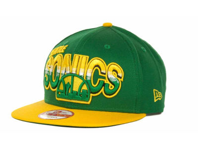 Seattle SuperSonics NBA Hardwood Classics Split Line Snapback 9FIFTY Cap Hats
