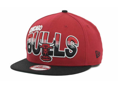 Chicago Bulls NBA Hardwood Classics Split Line Snapback 9FIFTY Cap Hats