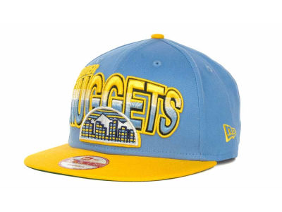 Denver Nuggets NBA Hardwood Classics Split Line Snapback 9FIFTY Cap Hats