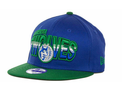 Minnesota Timberwolves NBA Youth Hardwood Classics Split Line 9FIFTY Cap Hats