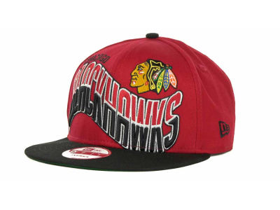 Chicago Blackhawks NHL Ice Wave Snapback 9FIFTY Cap Hats