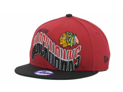 Chicago Blackhawks NHL Youth Ice Wave Snapback 9FIFTY Cap Hats