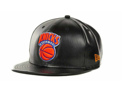 New York Knicks NBA Hardwood Classics Leather Strapback 9FIFTY Cap Hats
