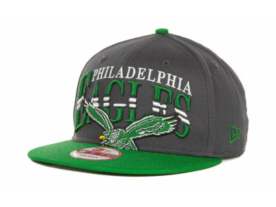 Philadelphia Eagles NFL Charcoal Arch Snapback 9FIFTY Cap Hats