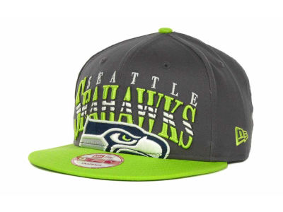 Seattle Seahawks NFL Charcoal Arch Snapback 9FIFTY Cap Hats