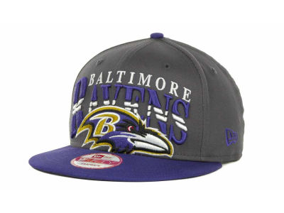 Baltimore Ravens NFL Charcoal Arch Snapback 9FIFTY Cap Hats