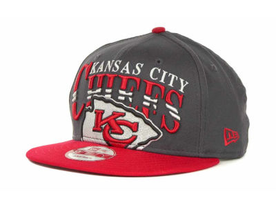 Kansas City Chiefs NFL Charcoal Arch Snapback 9FIFTY Cap Hats