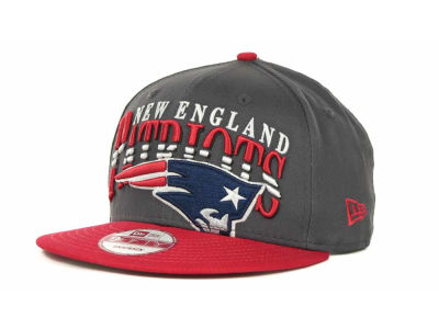New England Patriots NFL Charcoal Arch Snapback 9FIFTY Cap Hats