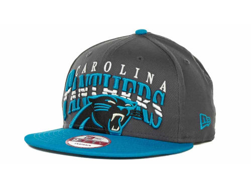 Carolina Panthers New Era NFL Charcoal Arch Snapback 9FIFTY Cap Hats