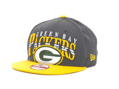 Green Bay Packers NFL Charcoal Arch Snapback 9FIFTY Cap Hats