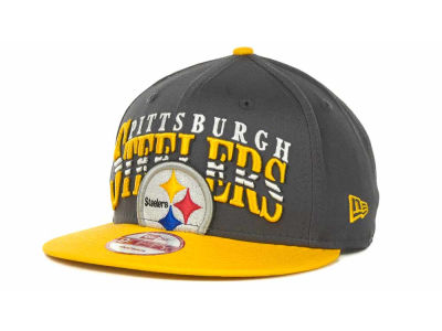 Pittsburgh Steelers NFL Charcoal Arch Snapback 9FIFTY Cap Hats