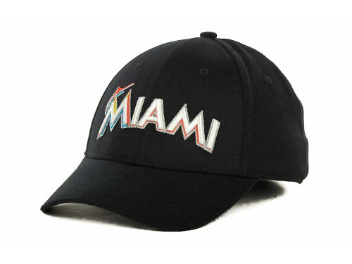 Miami Marlins Nike MLB Dri Fit Swooshflex Cap Hats