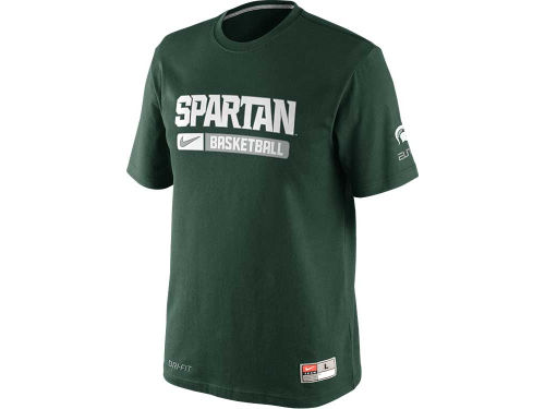 Michigan State Spartans Nike NCAA Basketball Team Issued Practice T-Shirt