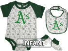 Oakland Athletics Infant MLB Triple Play 3 Piece Set Infant Apparel