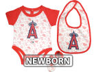 Los Angeles Angels of Anaheim MLB Newborn Triple Play 3 Piece Set Infant Apparel