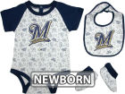 Milwaukee Brewers MLB Newborn Triple Play 3 Piece Set Infant Apparel