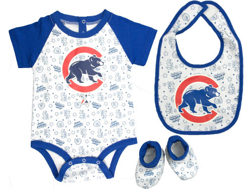 Chicago Cubs MLB Newborn Triple Play 3 Piece Set