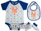 New York Mets MLB Newborn Triple Play 3 Piece Set Infant Apparel
