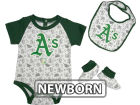 Oakland Athletics MLB Newborn Triple Play 3 Piece Set Infant Apparel