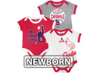 St. Louis Cardinals MLB Newborn Bases Loaded 3 Piece Set Infant Apparel