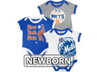 New York Mets MLB Newborn Bases Loaded 3 Piece Set Infant Apparel