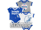 Los Angeles Dodgers MLB Newborn Bases Loaded 3 Piece Set Infant Apparel