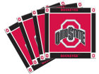 Ohio State Buckeyes Ceramic Coasters Set Of 4 Kitchen & Bar
