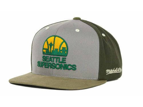 Seattle SuperSonics Mitchell and Ness NBA Clay Snapback Cap Hats