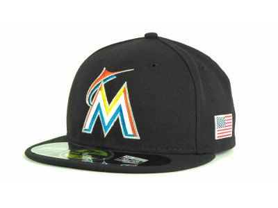 Miami Marlins MLB AC On Field 9-11 Patch 59FIFTY Hats