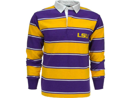 LSU Tigers NCAA Soho Rugby Shirt