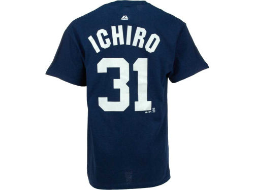 New York Yankees Ichiro Majestic MLB Player T-Shirt