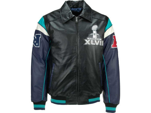 Super Bowl XLVII GIII NFL Super Bowl XLVII Commemorative Varsity Jacket 4XL