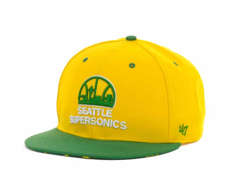 Seattle SuperSonics '47 Brand NBA Hardwood Classics Oath II Snapback Cap Hats