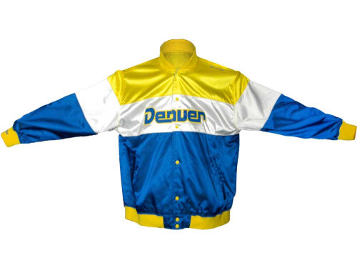 Denver Nuggets Mitchell and Ness NBA Under Lights Satin Jacket