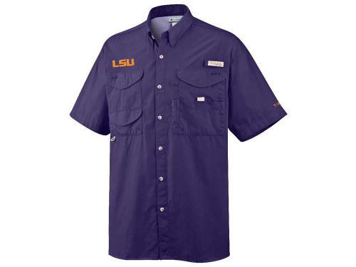 LSU Tigers NCAA Bonehead Short Sleeve Shirt