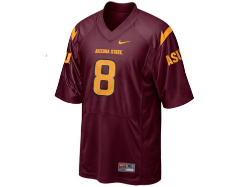 Arizona State Sun Devils #8 Haddad Brands NCAA Kids Football Jersey