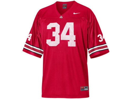 Ohio State Buckeyes #34 Haddad Brands NCAA Kids Football Jersey