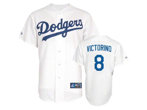 Los Angeles Dodgers Shane Victorino Majestic MLB Player Replica Jersey MD