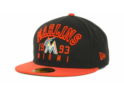 Miami Marlins MLB Word Knock 59FIFTY Cap Hats