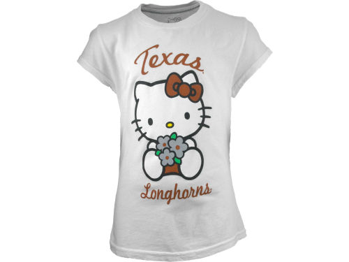 Texas Longhorns NCAA Girls HK Logo Flowers T-Shirt