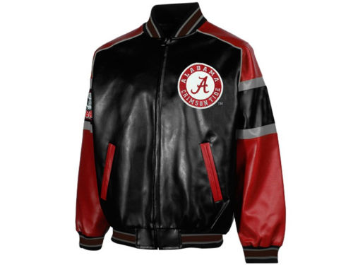 Alabama Crimson Tide GIII NCAA Post Game Pleather Jacket