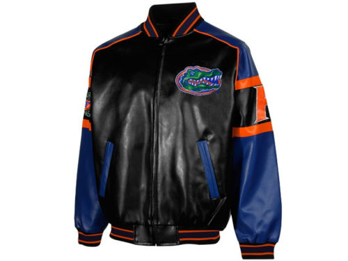 Florida Gators GIII NCAA Post Game Pleather Jacket
