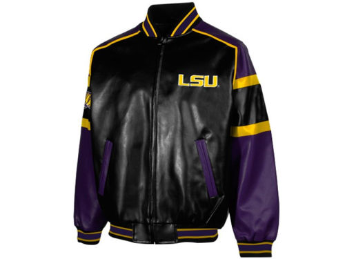 LSU Tigers GIII NCAA Post Game Pleather Jacket