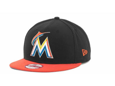 Miami Marlins MLB Basic Leather Strapback Cap Hats