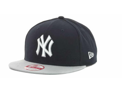 New York Yankees MLB Basic Leather Strapback Cap Hats