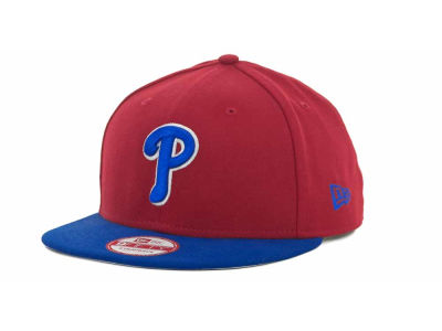 Philadelphia Phillies MLB Basic Leather Strapback Cap Hats