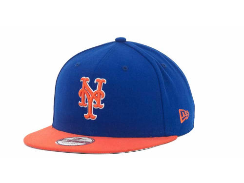 New York Mets New Era MLB Basic Leather Strapback Cap Hats