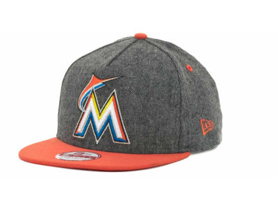 Miami Marlins MLB Tweed Strapback 9FIFTY Cap Hats
