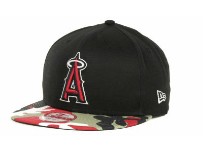 Los Angeles Angels of Anaheim MLB Camo Strapback 9FIFTY Cap Hats
