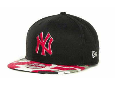New York Yankees MLB Camo Strapback 9FIFTY Cap Hats